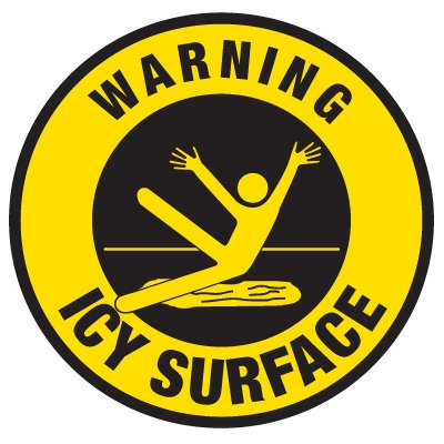 Anti-Slip Floor Markers - Warning Icy Surface