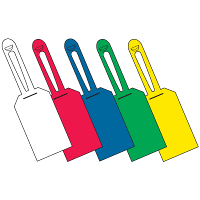 Color Coded Blank Lock-On Tags
