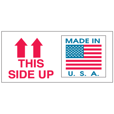 This Side Up Made In USA Combination Shipping Labels