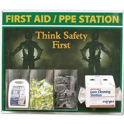 First Aid and PPE Station