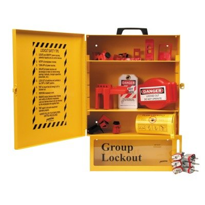 Brady Combined Lockout & Lock Box Station With Components & 6 Brady Steel Padlocks, 12 Tags - Part Number - 99710 - 1/Each