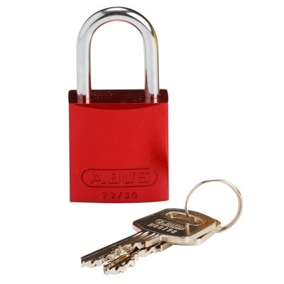 Brady Compact Keyed Different 1 inch Shackle Aluminum Padlocks - Red - Part Number - 133270 - 1/Each