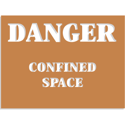 Confined Space Stencils - Danger - Confined Space