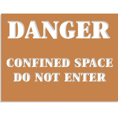 Confined Space Stencils - Danger - Do Not Enter