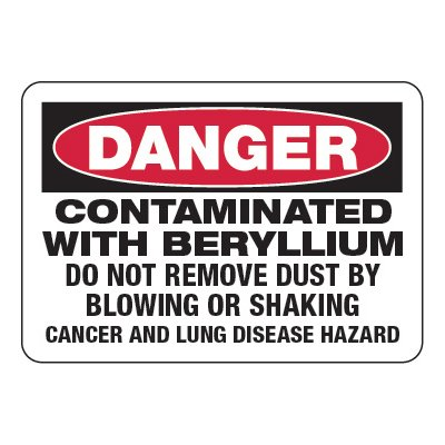 Contaminated With Beryllium - Chemical Warning Signs