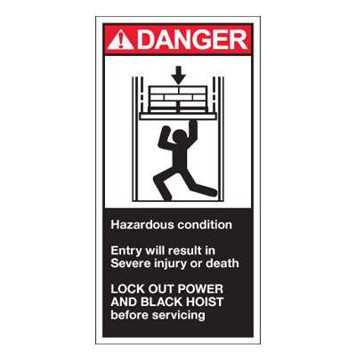 Conveyor Safety Labels - Danger Hazardous Condition