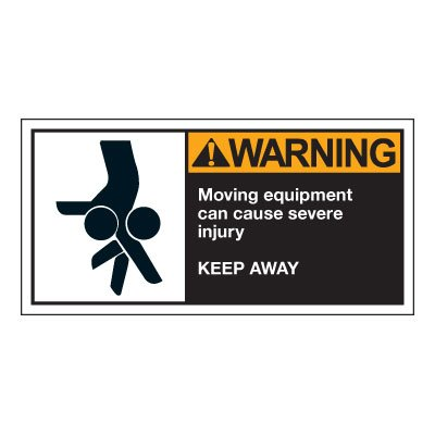 Conveyor Safety Labels - Warning Moving Equipment
