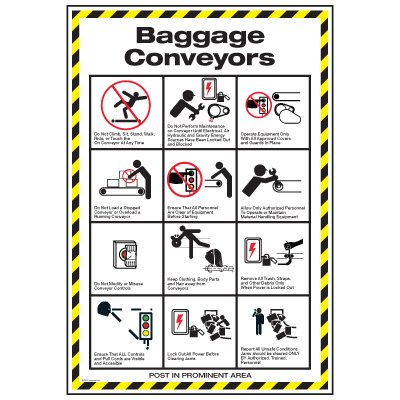 Conveyor Safety Poster - Baggage Conveyor Safety