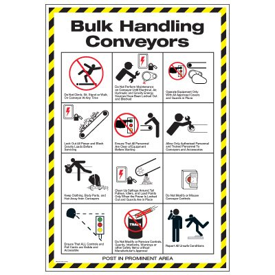 Conveyor Safety Poster - Bulk Conveyor Safety