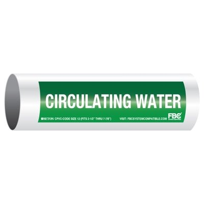 CPVC-Code™ Pipe Markers - Circulating Water