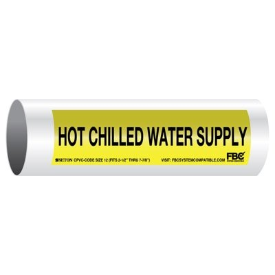CPVC-Code™ Pipe Markers - Hot Chilled Water Supply