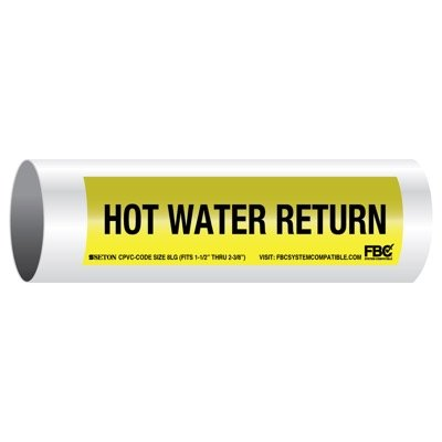 CPVC-Code™ Pipe Markers - Hot Water Return