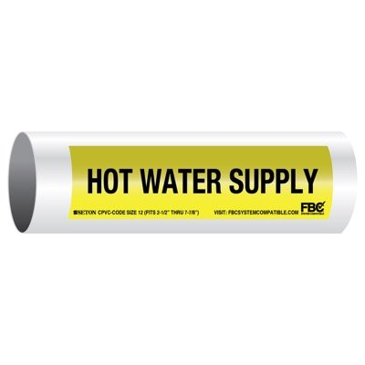 CPVC-Code™ Pipe Markers - Hot Water Supply