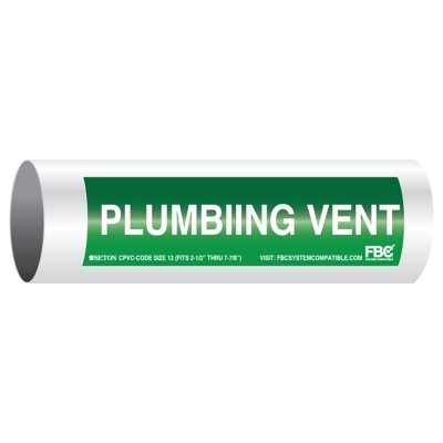 CPVC-Code™ Pipe Markers - Plumbing Vent