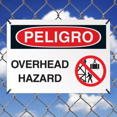 Crane Safety Signs - Danger Overhead Hazard