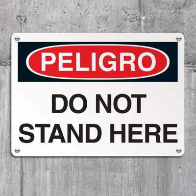 Crane Safety Signs - Danger Do Not Stand Here