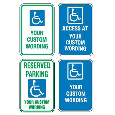 Custom Aluminum Handicapped Parking Signs