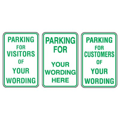 Custom Aluminum Parking For Signs