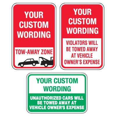 Custom Aluminum Towing Signs