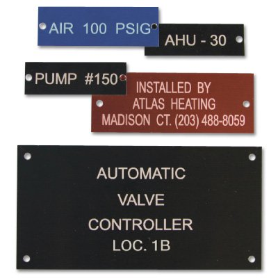 Custom Anodized Aluminum Equipment Nameplates