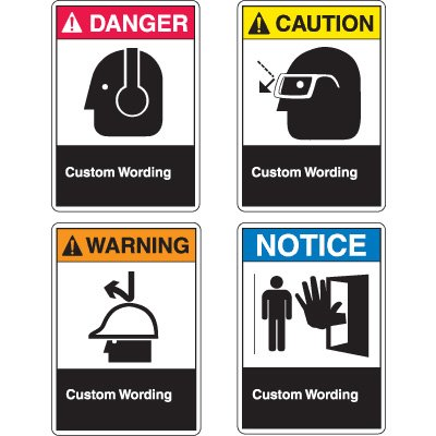 Custom ANSI Z535 Safety Signs