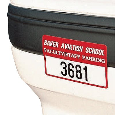Custom Bumper Parking Permit Decals