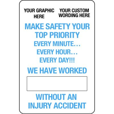 Custom Dry Erase Safety Tracker Signs