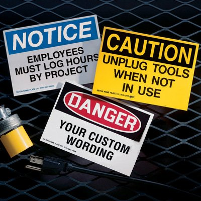 Custom OSHA & ANSI Hazard Warning Labels