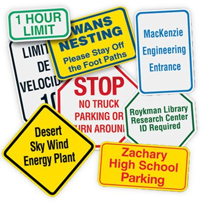 Custom High-Intensity Reflective Traffic Signs