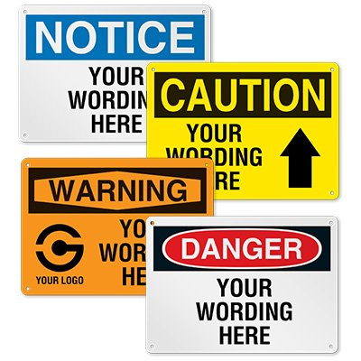 Custom OSHA Safety Signs