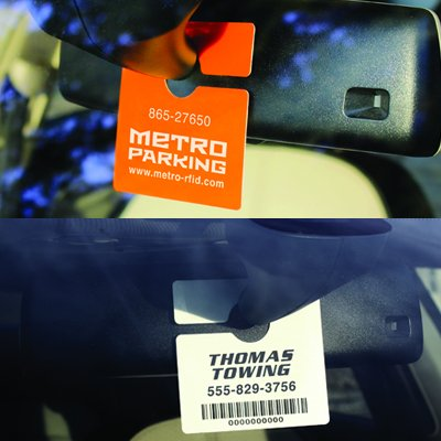 Custom RFID Rearview Mirror Hanging Permits
