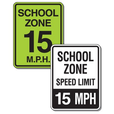 Custom School Zone Speed Limit Signs