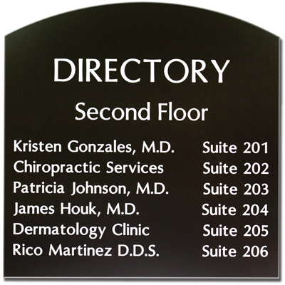 Custom Shaped Engraved Signs - Arch Style