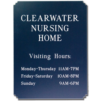 Custom Shaped Engraved Signs - Corner Step Style
