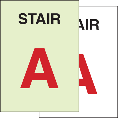 Custom Stair Identification Signs