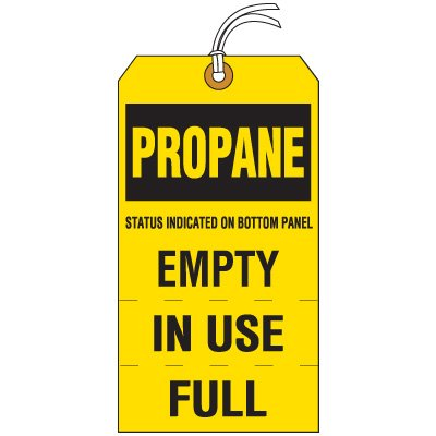 Propane Cylinder Status Tag