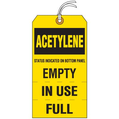 Acetylene Cylinder Status Tag