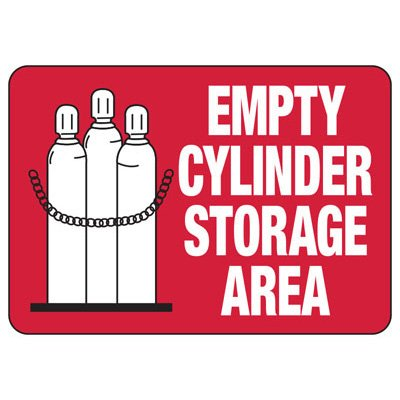 Cylinder Status Signs - Empty Cylinder Storage Area