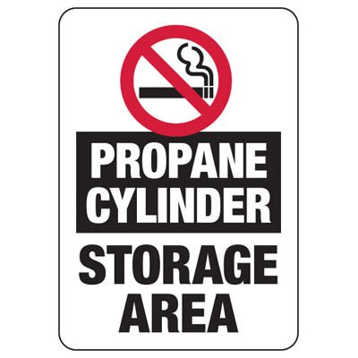 Cylinder Status Signs - Propane Cylinders (No Smoking)