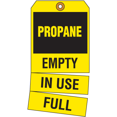Cylinder Status Tags - Propane