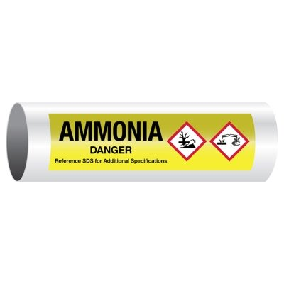 Danger Ammonia - GHS Pipe Markers