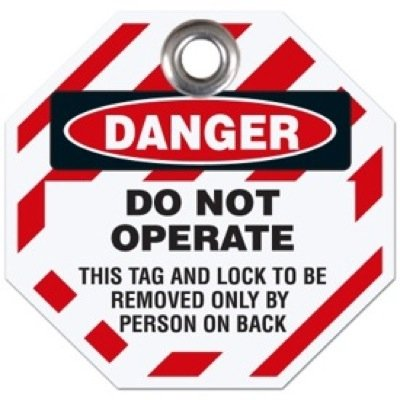 Danger Do Not Operate - Octagon Lockout Tag