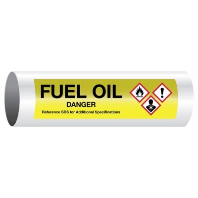 Danger Fuel Oil - GHS Pipe Markers