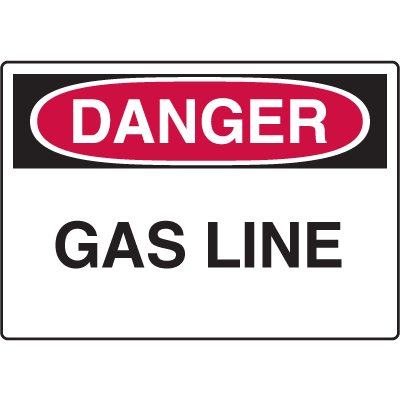 Danger Signs - Gas Line