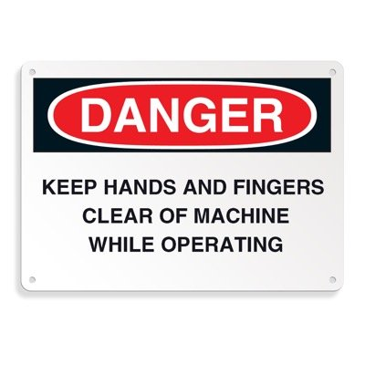 Danger Signs - Keep Hands And Fingers Clear Of Machine While Operating