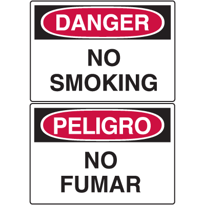 Danger Signs - No Smoking