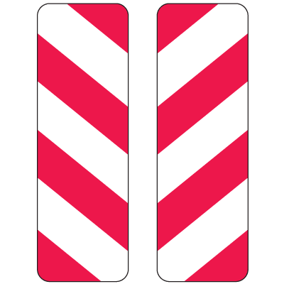Reflective Striped Delineators (Red and White Stripes)