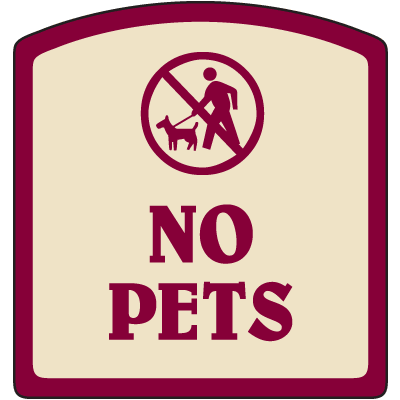 Designer Property Signs - No Pets