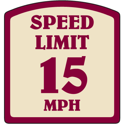 Designer Property Signs - Speed Limit 15 MPH