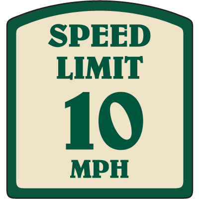 Designer Property Signs - Speed Limit 10 MPH
